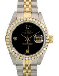 Rolex Lady Datejust Factory Diamond Dial Diamond Bezel 26mm-Quickset