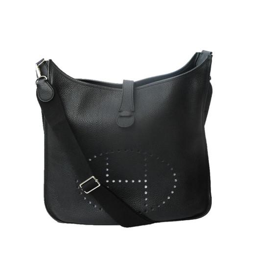 Hermes Evelyne 3 Tgm Entrupy Black Leather Shoulder Bag