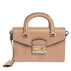 Prada Beige Saffiano Leather Mini Sound Convertible Bag
