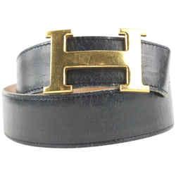 Hermes 32mm Reversible H Logo Belt Kit Black x Gold x Brown 862879