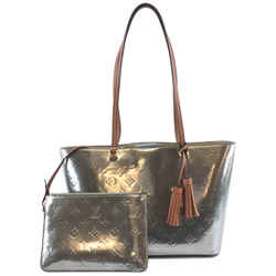 Louis Vuitton Long Beach Tote Silver Vernis Leather