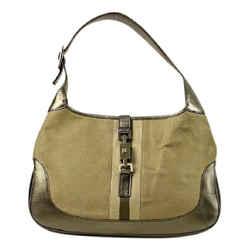 Gucci Olive x Gold Jackie-O Hobo Ggtl859 Shoulder Bag