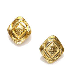 Gold Chanel Gold-tone Clip-on Earrings