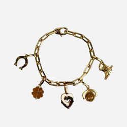Cartier 18k Yellow Gold Five Charm Bracelet