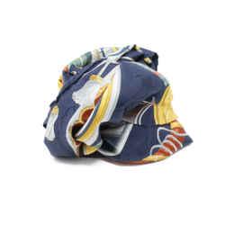 Hermes Navy Daimyo Silk Scarf