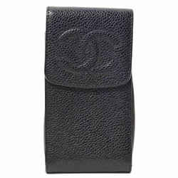 Auth Chanel Caviar Skin Cell Phone Case Smartphone