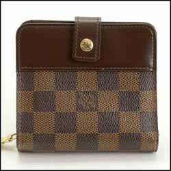 Rdc11336 Authentic Louis Vuitton Damier Ebene Compact Wallet