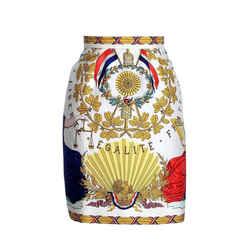 Hermes Skirt Liberte Egalite Fraternite Scarf Print Silk 40  6