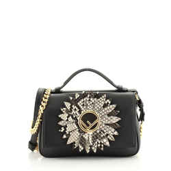 Double Kan I F Baguette Embellished Leather with Python Micro