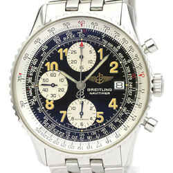Polished BREITLING Old Navitimer Steel Automatic Mens Watch A13022 BF523516