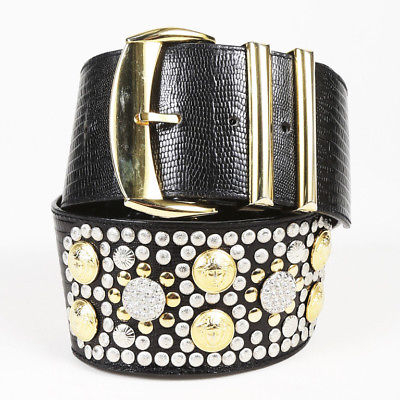 1980s gray lizard Pattern belt belt for women