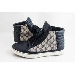 Gucci Blue GG Supreme High-Top Sneaker
