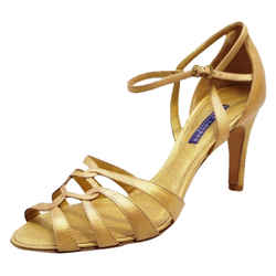 Ralph Lauren New Label Phyliss Vintage Calf Strappy 9 Gold Sandals
