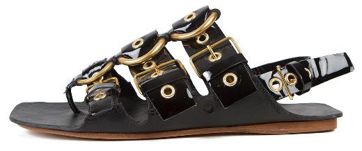 Miu Miu Patent Gladiator Sandals