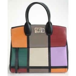 Salvatore Ferragamo Studio Medium Top Handle Bag - Multi