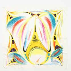 La Tour Eiffel S'envole Scarf Printed Silk 90