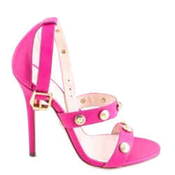 Versace Signature Medusa Studded Sandals Pink Size 6.5 Authenticity Guaranteed