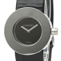 Polished CHANEL La Ronde Steel Leather Quartz Ladies Watch H0579 BF530583