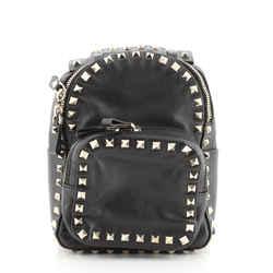 Rockstud Backpack Leather Mini