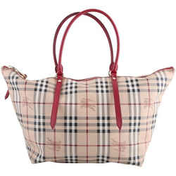 Burberry Salisbury Tote Bag Beige/Red/Black Medium Authenticity Guaranteed