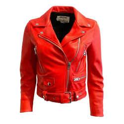 Acne Studios Red Motorcycle Jacket