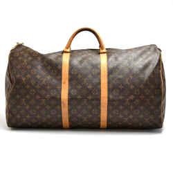 Louis Vuitton Keepall 60 Monogram Canvas Duffle Travel Bag LT947
