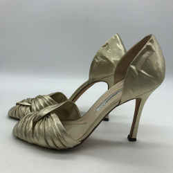 Brian Atwood D'orsay Metallic Heels Size 7.5