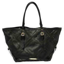 Burberry Black Perforated Leather Salisbury Tote