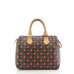 Speedy Handbag Limited Edition Monogram Cerises 25