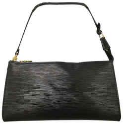 Louis Vuitton Pochette 2003 Black Epi Leather Baguette