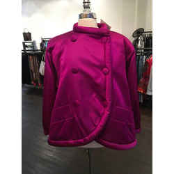 Yves Saint Laurent Size 38 Hot Pink Silk Satin Jacket Vintage - 1178-12-62819