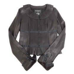 Chanel Black Pleated Jacket