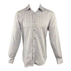Gucci Plaid Cotton Button Up Long Sleeve Shirt