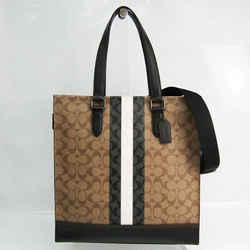 Coach Signature 6707 Men's Leather,Coated Canvas Handbag,Shoulder Bag B BF527068