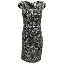 Max Mara Black & White Silk Cocktail Dress