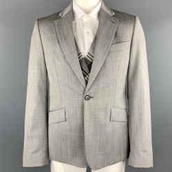 Vivienne Westwood Man Size 42 Grey Wool Notch Lapel Sport Coat