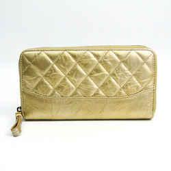 Chanel Matelasse Women's Leather Long Wallet (bi-fold) Gold BF510240