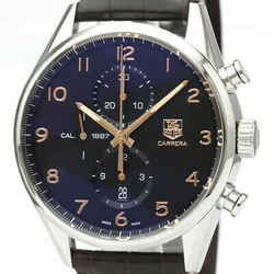 Polished TAG HEUER Carrera Calibre 1887 Chronograph Steel Watch CAR2014 BF529348