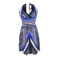 Peter Pilotto Dress Vivid Print Halter Style Beautiful Details  6 Nwt