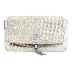 Versace Gold Quilted Flap Bag