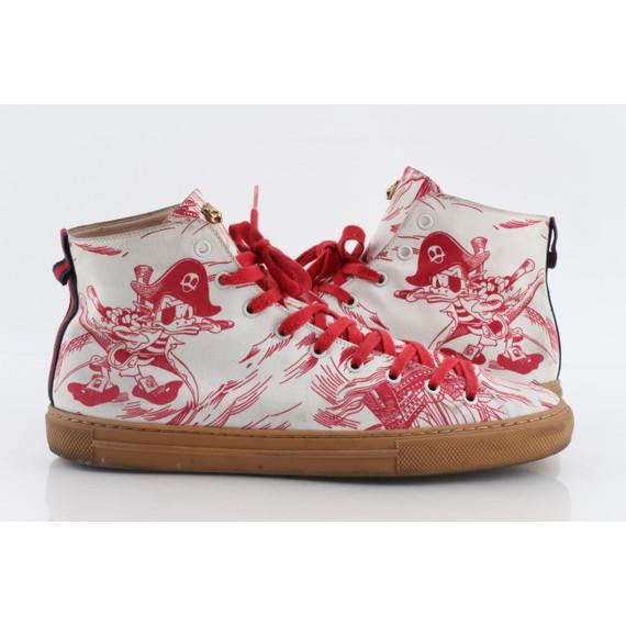 Gucci Sea Storm Print High-Top Sneaker