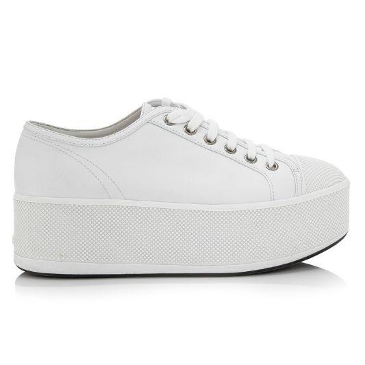 prada white platform sneakers