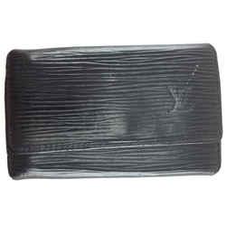 Louis Vuitton Black Epi Monogram Key Wallet
