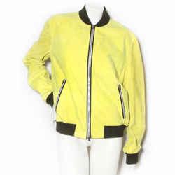 Hermes Chartreuse Suede Bomber Jacket