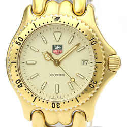 TAG HEUER Sel 200M Gold Plated Quartz Mens Watch S94.713 BF523465