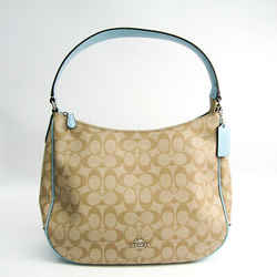 Coach Signature Zip Hobo F29209 Women's Coated Canvas,leather Shoulder  Bf508048