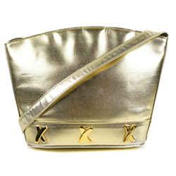 Paloma Picasso - Gold Leather Shoulder Bag - Strap - Xxx