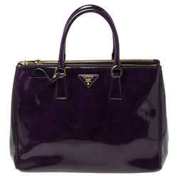 Prada Purple Patent Leather Medium Double Zip Tote