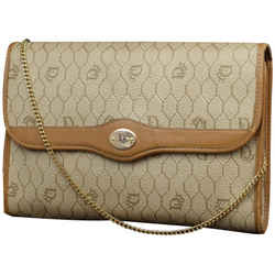 Dior      Monogram Oblique Signature Trotter Chain Flap 2way Clutch 230375