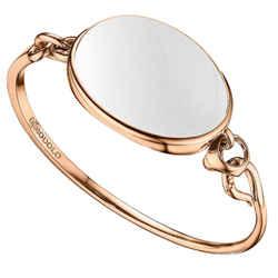 Di Modolo White Agate Bangle Bracelet In Plated 18k Rose Gold Msrp 650